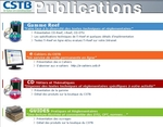 Capture d'écran du site Internet des publications du CSTB