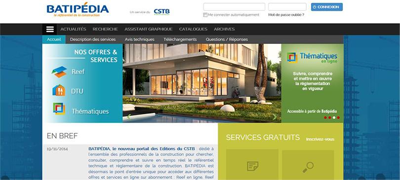 Le nouveau portail en ligne pour accéder aux services technico-réglementaires et à toute l'actualité thématique de la construction