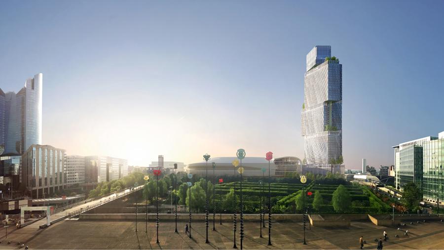 En coulisse du BIM d'Argent 2018 : la tour des Jardins de l'Arche à La Défense avec le CSTB
