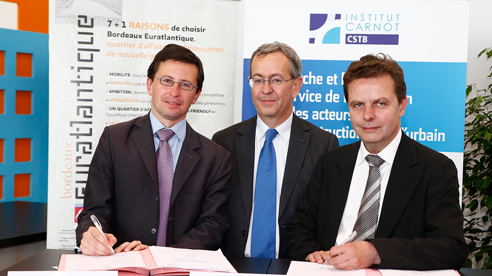 L'EPA Bordeaux-Euratlantique et le CSTB signent un accord de Recherche & Développement