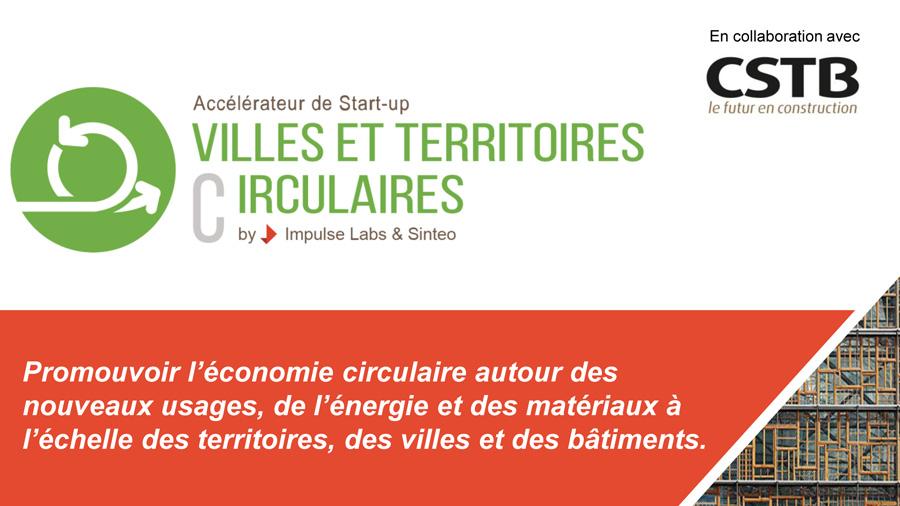 Impulse Partners et Sinteo lancent un accélérateur de start-up pour des Villes & Territoires circulaires, avec le soutien du CSTB