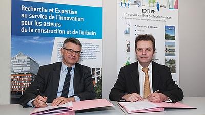 Signature de partenariat entre l'ENTPE et le CSTB