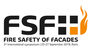 Colloque international « Fire Safety of Facades » FSF 2019, Paris
