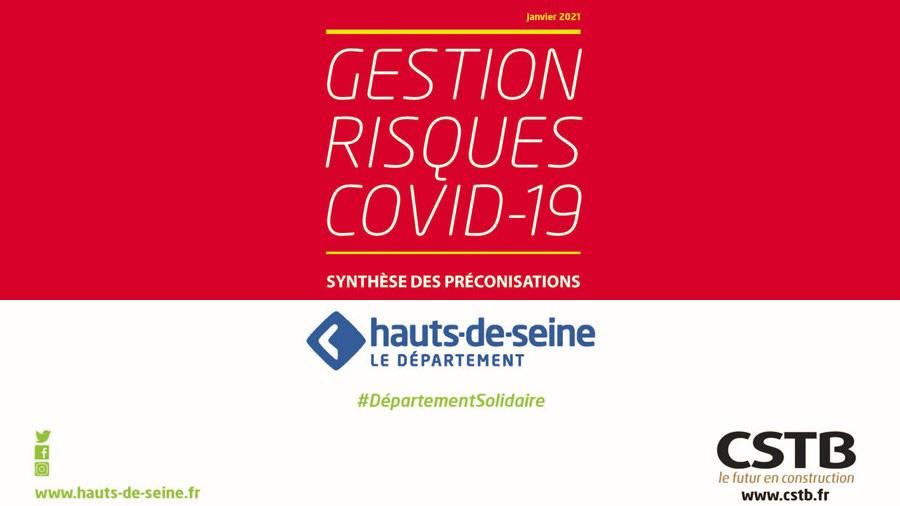 Le CSTB récompensé pour ses travaux sur la gestion du risque COVID avec le Département des Hauts-de-Seine
