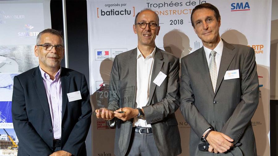 The CSTB Wins Prize in French Construction Awards (Trophées de la Construction) 2018
