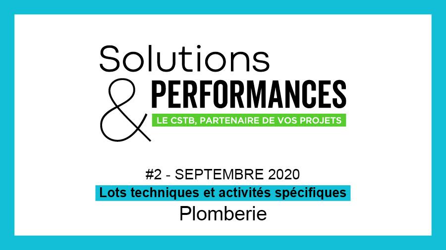 Les produits de plomberie au sommaire de Solutions & Performances n° 2