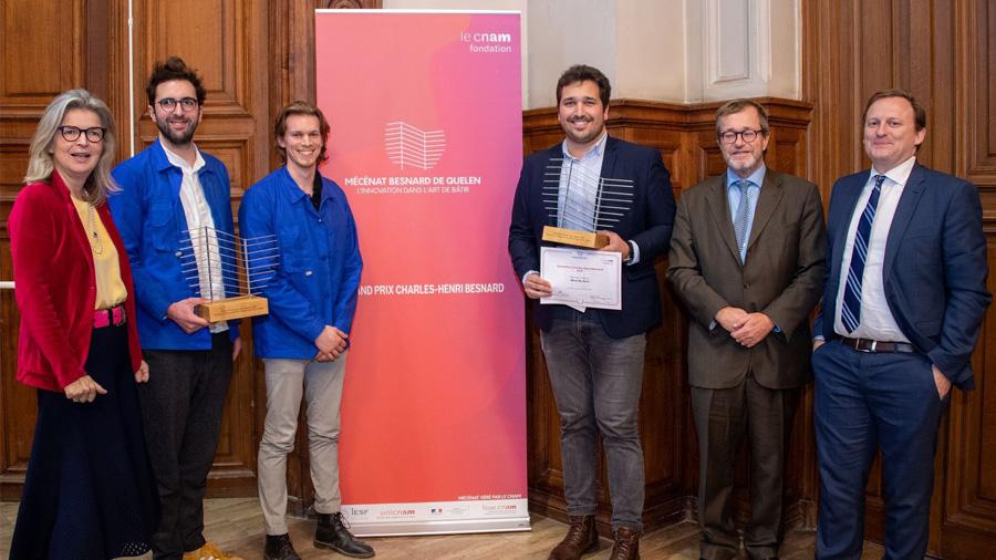 Grand Prix Charles-Henri Besnard 2019 : deux lauréats porteurs d'innovation dans l'art de bâtir
