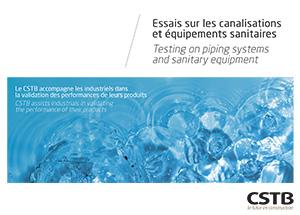 Essais sur les canalisations et équipements sanitaires
