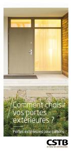 Comment choisir vos portes extérieures?