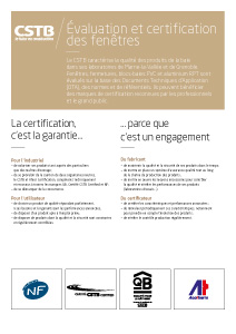 Évaluation et certification des fenêtres