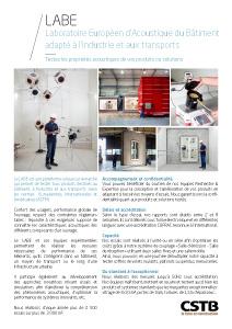 LABE - Laboratoire Européen d'Acoustique du Bâtiment adapté à l'industrie et aux transports