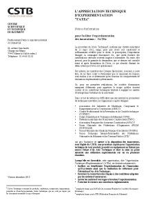 Notice d'information de l'ATEx
