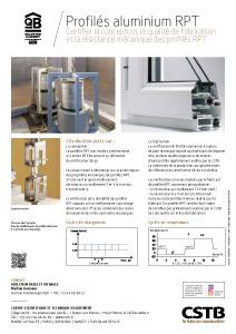 Profilés aluminium RPT