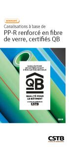 QB 08 - Canalisations à base de PP-R renforcé en fibrede verre