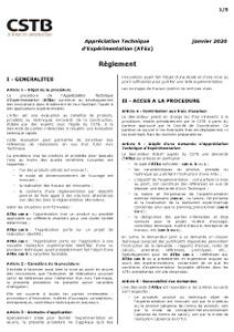 Règlement de l'ATEx