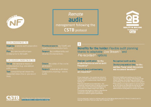Remote audit management following the CSTB protocol
