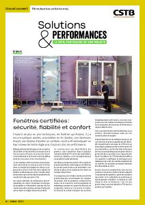 Solutions & Performances – Numéro 1 : « Menuiseries extérieures »