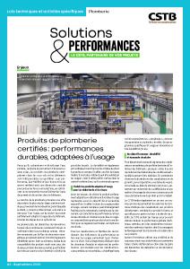 Solutions & Performances – Numéro 2 : « Plomberie »