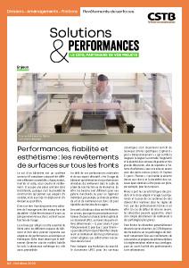 Solutions & Performances – Numéro 3 : « Revêtements de surfaces »