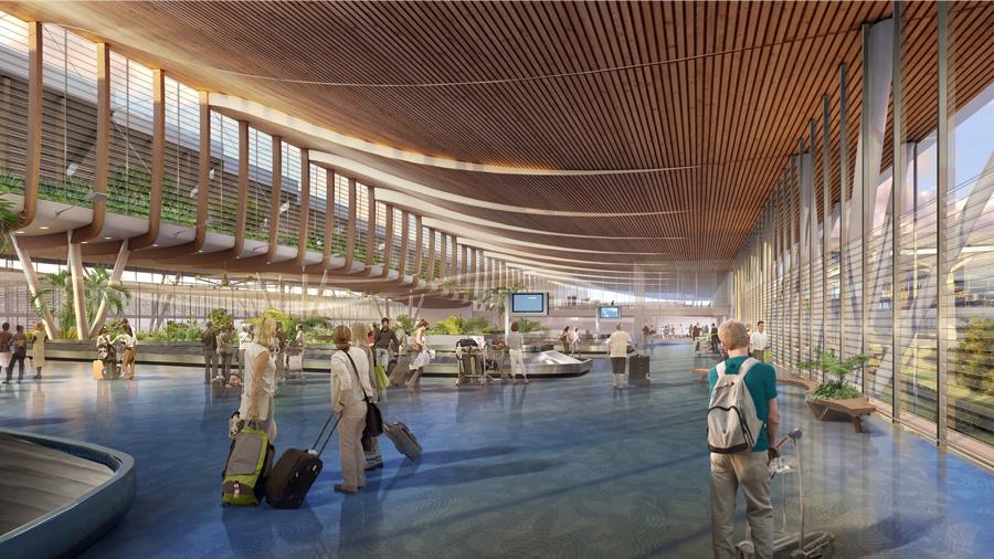 Ventilation naturelle pour l'aéroport de La Réunion Roland-Garros