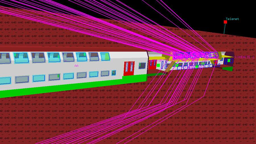 Niveau de connectivité en téléphonie mobile à l'intérieur d'un train